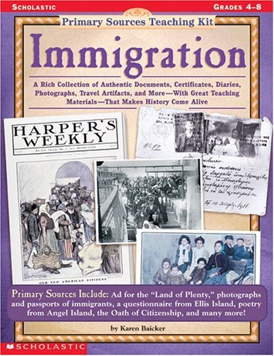 9780590378666: Immigration (Primary Sources Teaching Kit, Grades 4-8)