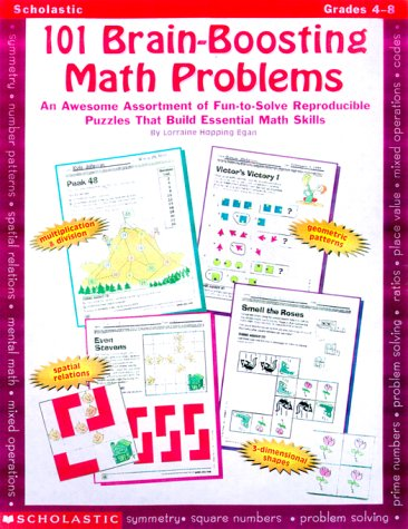 9780590378697: 101 Brain-Boosting Math Problems (Grades 4-8)