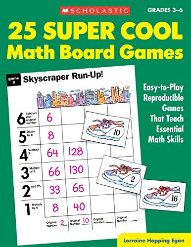 9780590378727: 25 Super Cool Math Board Games: Easy-To-Play Reproducible Games That Teach Eseential Math Skills