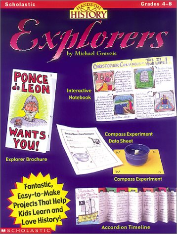 9780590395984: Hands-on History: Explorers (Grades 4-8)