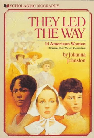 9780590444316: They Led the Way: 14 American Women (Scholastic Biography)