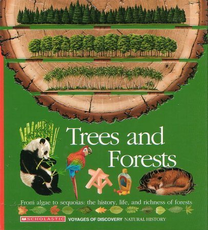 9780590476393: Trees and Forests/from Algae to Sequoias: The History, Life, and Richness of Forests/Book and Stickers (Voyages of Discovery)