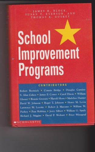 9780590495011: School Improvement Programs: A Handbook for Educational Leaders