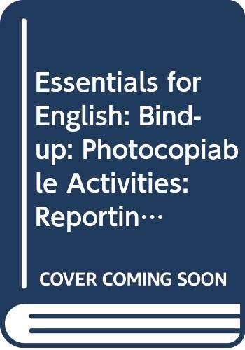 9780590531016: Essentials for English: Bind-up: Photocopiable Activities: Reporting and Following Instructions / Reading for Information / Rhymes and Blends / Handwriting Practice
