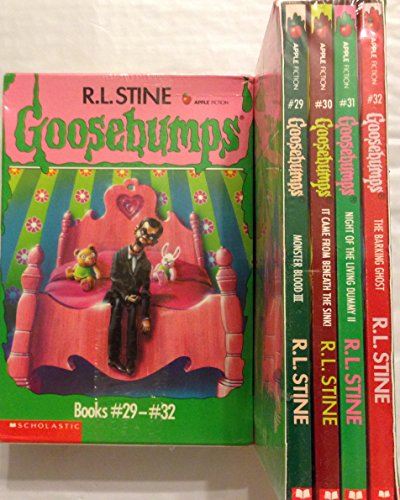 9780590535571: Goosebumps Boxed Set, Books 29- 32: Monster Blood III, It Came from Beneath the Sink!, Night of the Living Dummy II, and The Barking Ghost