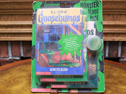 9780590537704: The Goosebumps Monster Blood Pack: The Curse of the Mummy's Tomb, Monster Blood, and Stay Out of the Basement (Includes a Container of Green Slime)