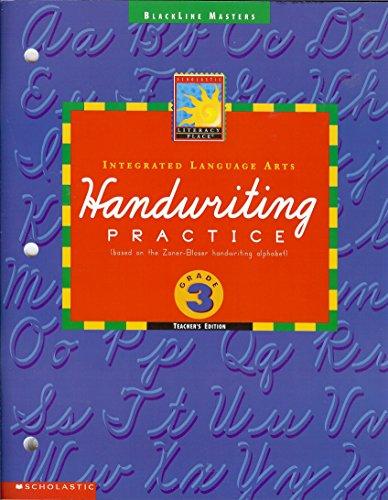 9780590545426: Handwriting Practice (based on the Zaner-Bloser handwriting alphabet) (Integrated Language Arts)