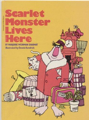 9780590621625: Scarlet Monster Lives Here