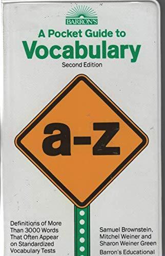 9780590634076: A Pocket Guide to Vocabulary