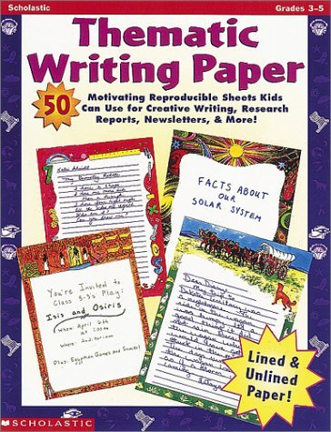 9780590666978: Thematic Writing Paper (Grades 3-5)