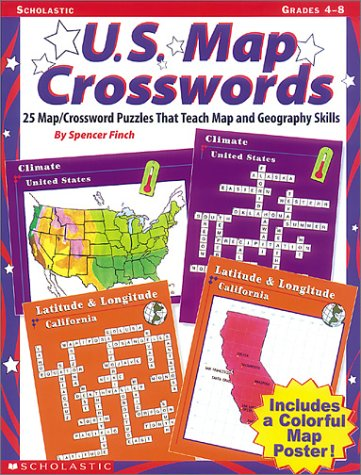 9780590769921: U.S. Map Crossword Puzzles: 25 Map/Crossword Puzzles That Teach Map and Geography Skills