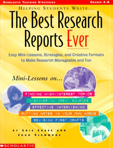 9780590963862: Helping Students Write The Best Research Reports Ever (Grades 4-8)