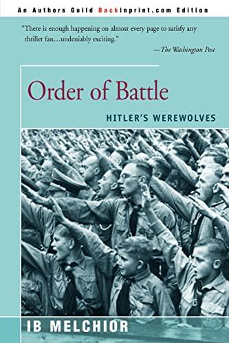9780595007592: Order of Battle: Hitler's Werewolves