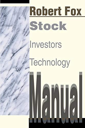Stock Investors Technology Manual: Robert Fox