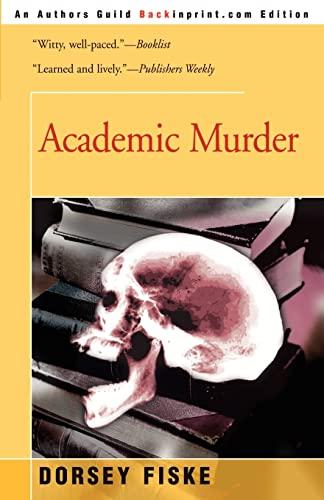 9780595209231: Academic Murder