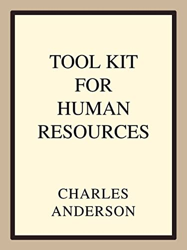 9780595323692: Tool Kit for Human Resources