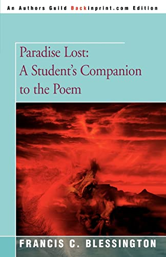 9780595336777: Paradise Lost: A Student's Companion to the Poem