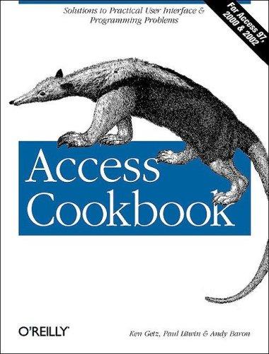9780596000844: Access Cookbook
