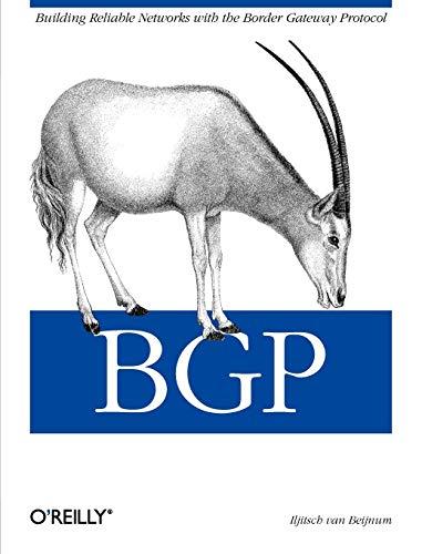 9780596002541: BGP: Building Reliable Networks with the Border Gateway Protocol (Classique Us)