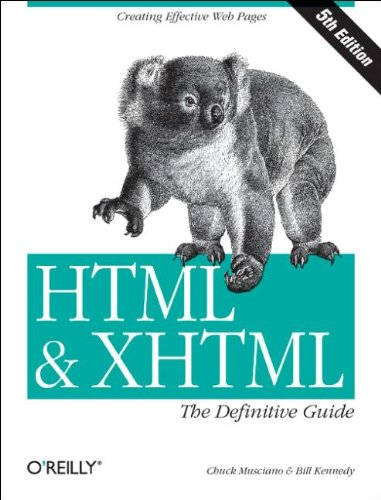 9780596003821: HTML & XHTML: The Definitive Guide, Fifth Edition