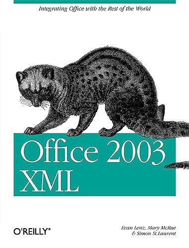 9780596005382: Office 2003 XML