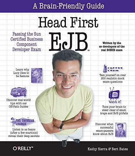 9780596005719: Head First EJB (Brain-Friendly Study Guides; Enterprise JavaBeans)