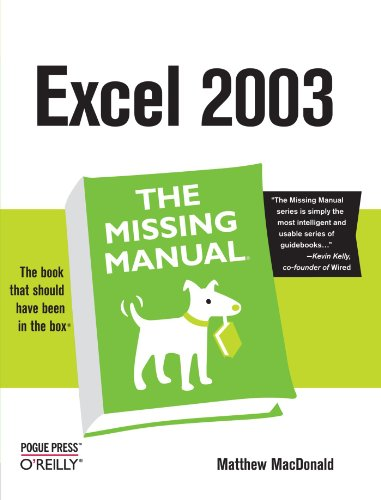 9780596006648: Excel the Missing Manual