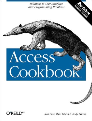 9780596006785: Access Cookbook: Solutions to Common User Interface & Programming Problems