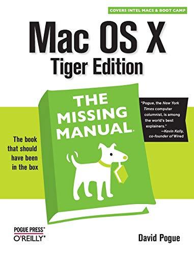 9780596009410: Mac OS X Tiger: Missing Manual