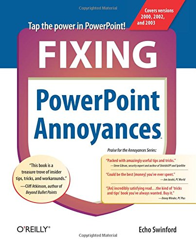 9780596100049: Fixing PowerPoint Annoyances: How to Fix the Most Annoying Things About Your Favorite Presentation Program
