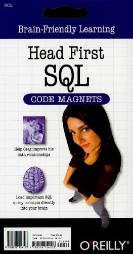 9780596154103: Head First SQL Code Magnet Kit