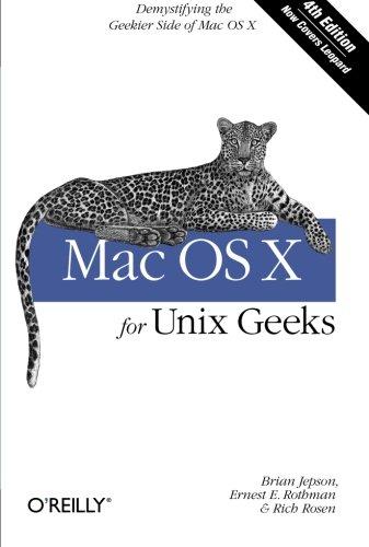 9780596520625: Mac OS X for Unix Geeks 4e