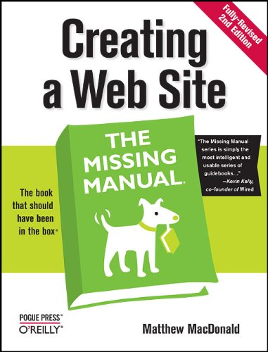 9780596520977: Creating a Web Site: The Missing Manual