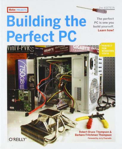Building the Perfect PC 9780596526863 This popular Build-It-Yourself (BIY) PC book covers everything you want to know about building your own system: Planning and picking out the right components, step-by-step instructions for assembling your perfect PC, and an insightful discussion of why you'd want to do it in the first place. Most big brand computers from HP, Dell and others use lower-quality components so they can meet their aggressive pricing targets. But component manufacturers also make high-quality parts that you can either purchase directly, or obtain through distributors and resellers. Consumers and corporations alike are opting to build rather than buy PCs to ensure high quality and compatibility. The new edition of Building the Perfect PC shows you how to construct a variety of top-flight systems with the latest technology, including AMD Socket AM-2 and Intel Core 2 processors, that are Vista- and Linux-ready. The book includes several new options, including: A Budget PC you can build for approximately $350 that offers performance and reliability similar to that of mainstream systems A full-blown media-center system that runs Linux and MythTV or Windows MCE with multiple tuners and HDTV support A fire-breathing high-performance gaming system A fast, low-power, low-heat, low-noise, Small Form Factor system (the size of a shoe box) A low-cost SOHO (small office, home office) server system with a 2 terabyte (2,000 GB) disk subsystem that's suitable for a residential environment rather than a server closet Regardless of your technical experience, Building the Perfect PC will guide you through the entire process of building or upgrading your own computer. You'll use the latest top-quality components, including Intel's Core 2 Duo and AMD's Athlon X2 CPUs. And you'll know exactly what's under the hood and how to fix or upgrade your PC, should that become necessary. Not only is the process fun, but the result is often less expensive and always better quality and far more satisfying ...