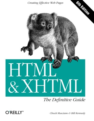 9780596527327: HTML & XHTML: The Definitive Guide (6th Edition)