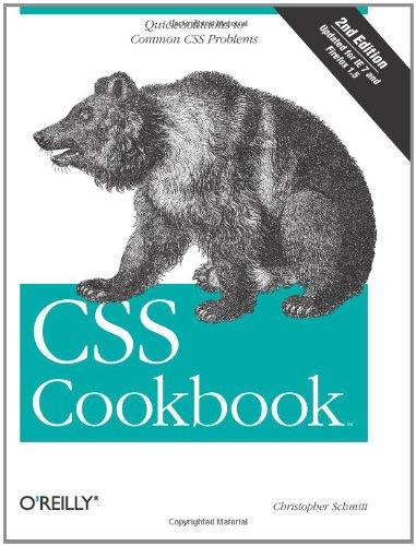 9780596527419: CSS Cookbook (Cookbooks (O'Reilly))