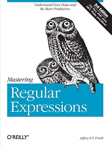 9780596528126: Mastering Regular Expressions