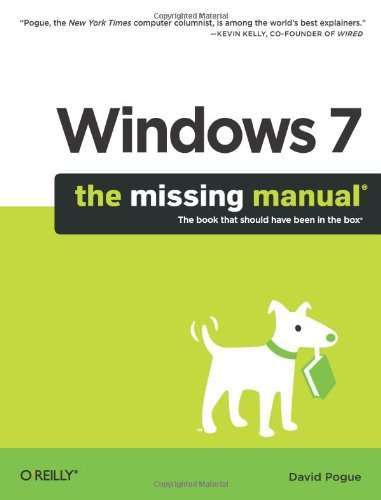 9780596806392: Windows 7: The Missing Manual (Missing Manuals)