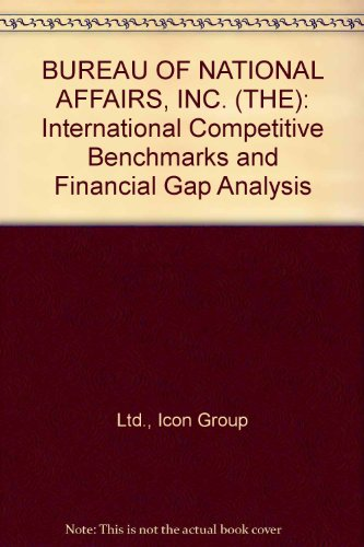 9780597358449: BUREAU OF NATIONAL AFFAIRS, INC. (THE): International Competitive Benchmarks and Financial Gap Analysis