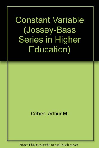 9780598187208: Constant Variable (Jossey-Bass Series in Higher Education)