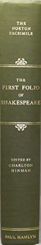 9780600013358: First Folio of Shakespeare: The Norton Facsimile