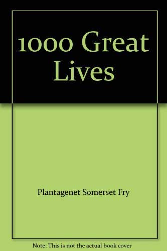 9780600308218: 1000 Great Lives