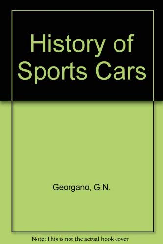 9780600344414: History of Sports Cars