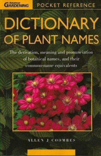9780600581871: The Hamlyn Dictionary of Plant Names (