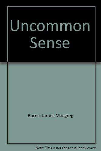 9780601058440: Uncommon Sense