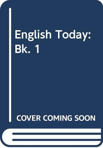 9780602203627: English Today: Bk. 1