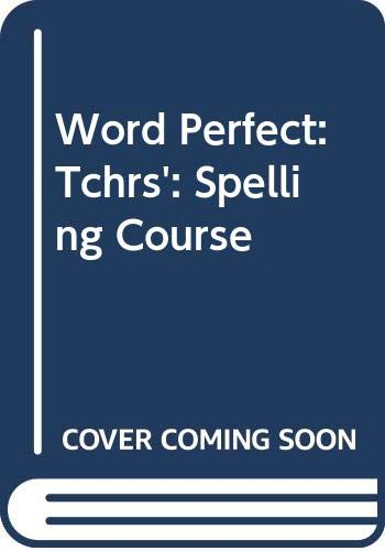 WordPerfect Teacher's Manual with Diagnostic Tests (9780602209933) by Ronald Ridout