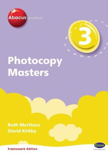 9780602575120: Abacus Evolve Year 3 Photocopy Masters Framework Edition