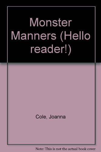 9780606078818: Monster Manners (Hello Reader!)