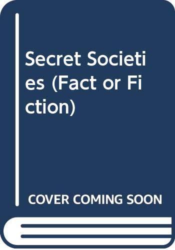 9780606092548: Secret Societies (Fact or Fiction)